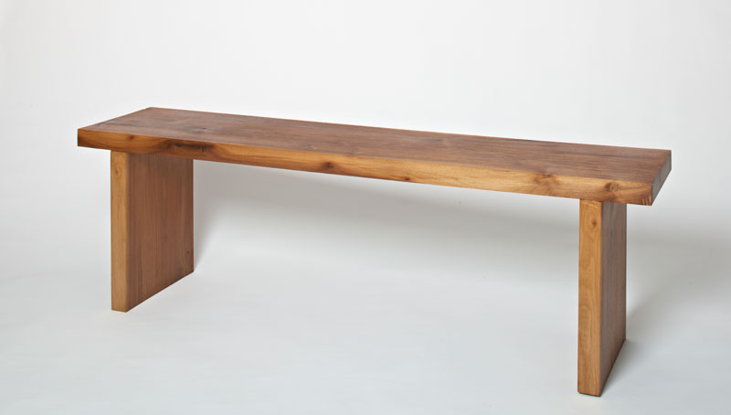 Cool Holt Harrison Black American Walnut Bench Ocoug Best Dining Table And Chair Ideas Images Ocougorg