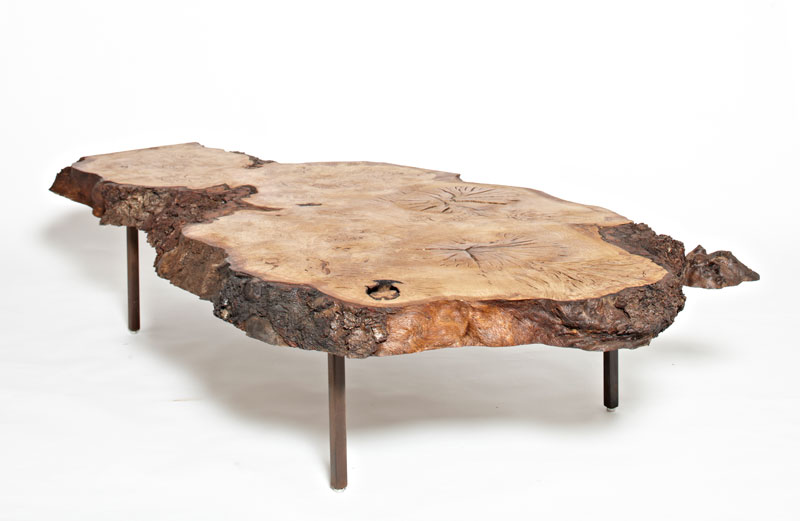 ... tints and natural beauty and characteristics of the wood. Available  with 2 specially designed leg finishes including a single continuous flat  aged steel ...