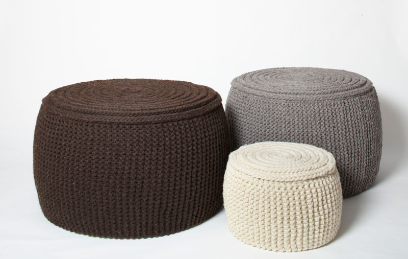 Holt Harrison Hand Knitted Pouffes